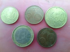Евро монеты
