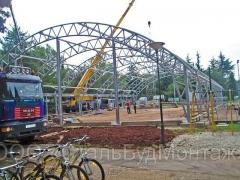 The dismantling of metal constructions. Installation of steel structures