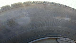 Зимние шины Б/У зимние шины на Спринтер и Фольксваген ЛТ-35 225/70/R15С края